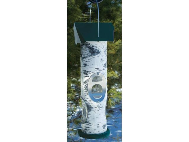 Birch Log Mixed Seed Tube Feeder