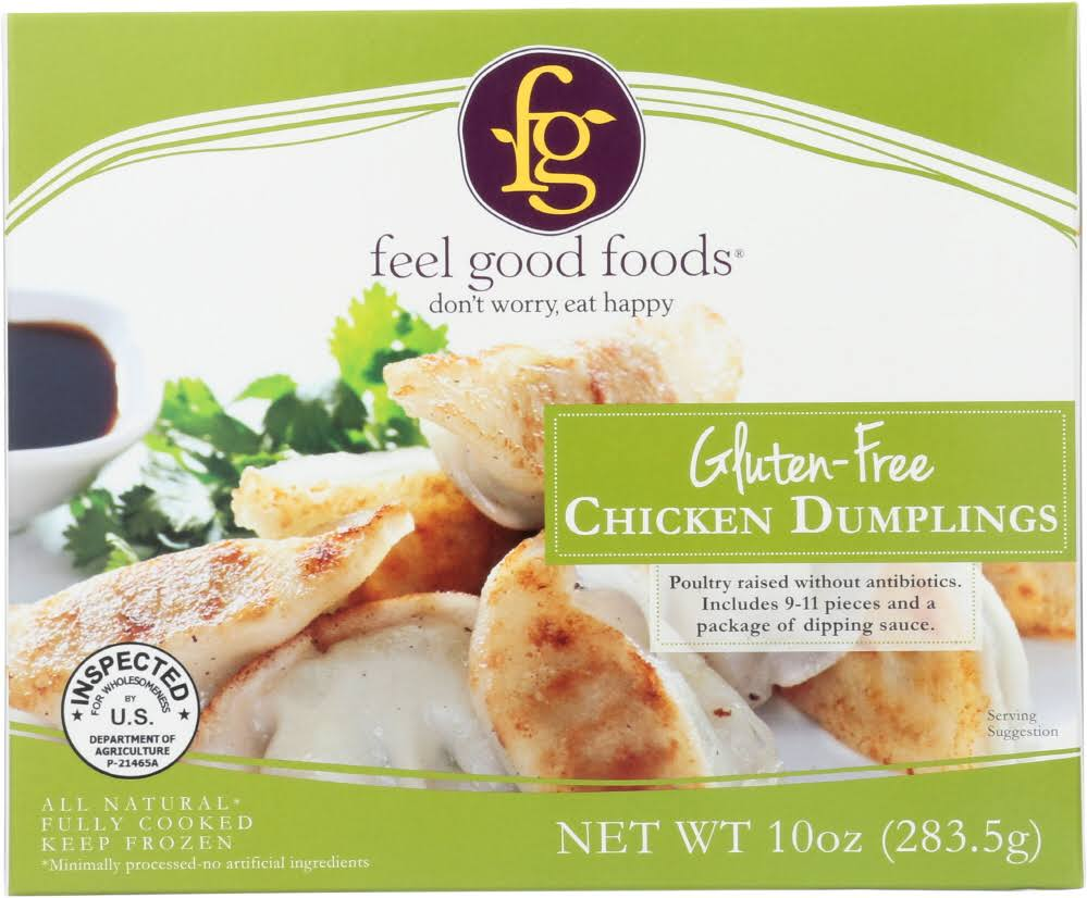 Feel Good Foods: Chicken Gluten Free Dumplings, 10 oz
