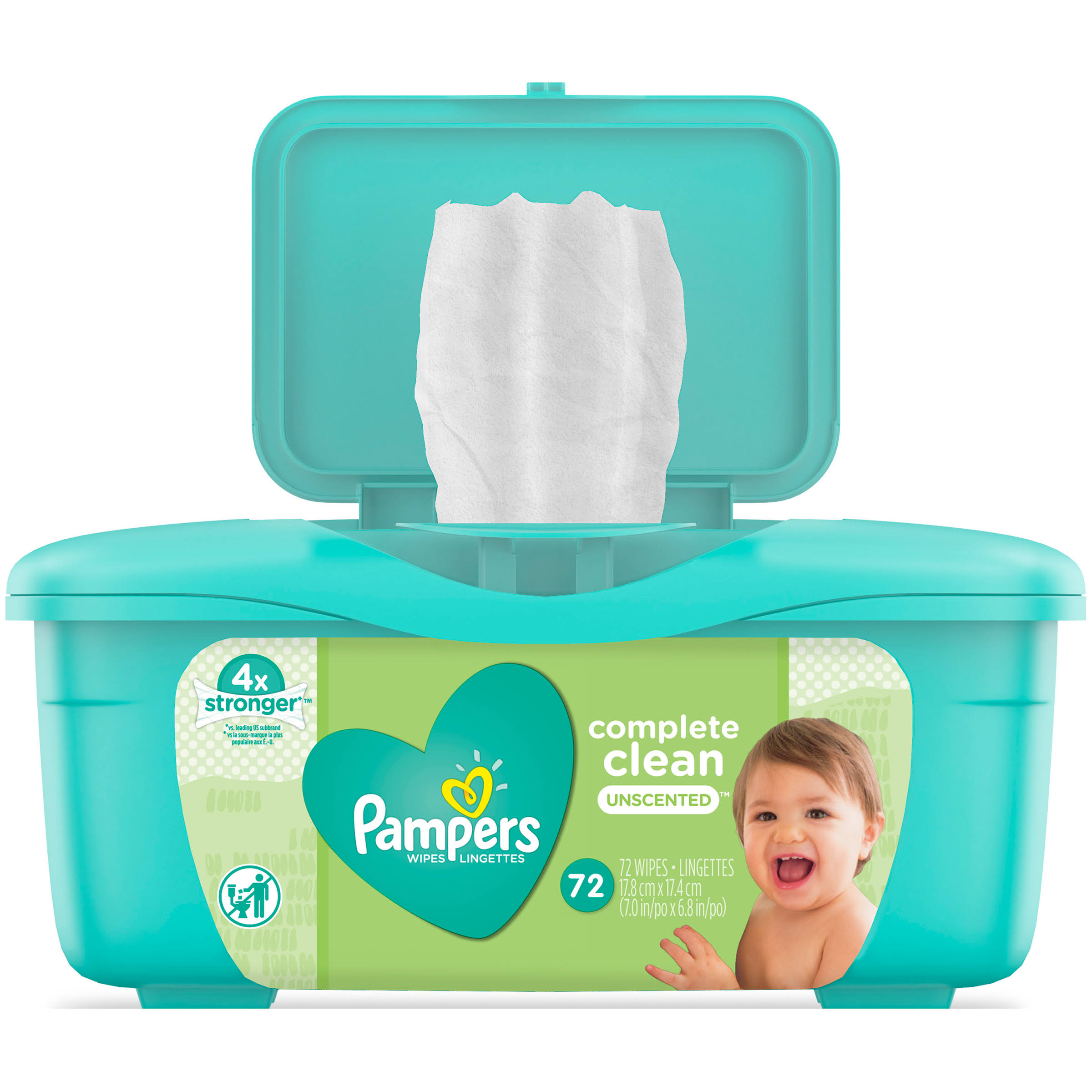 Pampers Complete Clean Baby Wipes - Unscented, 72ct