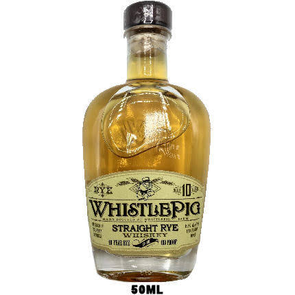 50ml Mini Whistlepig 10 Year Old Straight Rye Whiskey