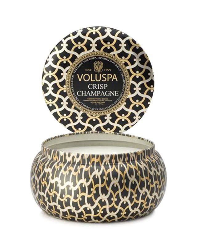 Voluspa 2 Wick Candle In Decorative Tin - Crisp Champagne, 312g