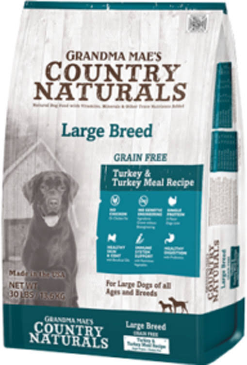 Grandma Mae S Country Nat Country Naturals Grain Free Lid Large Breed Dog 30 lb