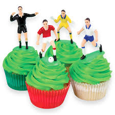 Cake Decorating Books Free by Pme Football Soccer Toppers For Cake And Cupcakes Set Of 9