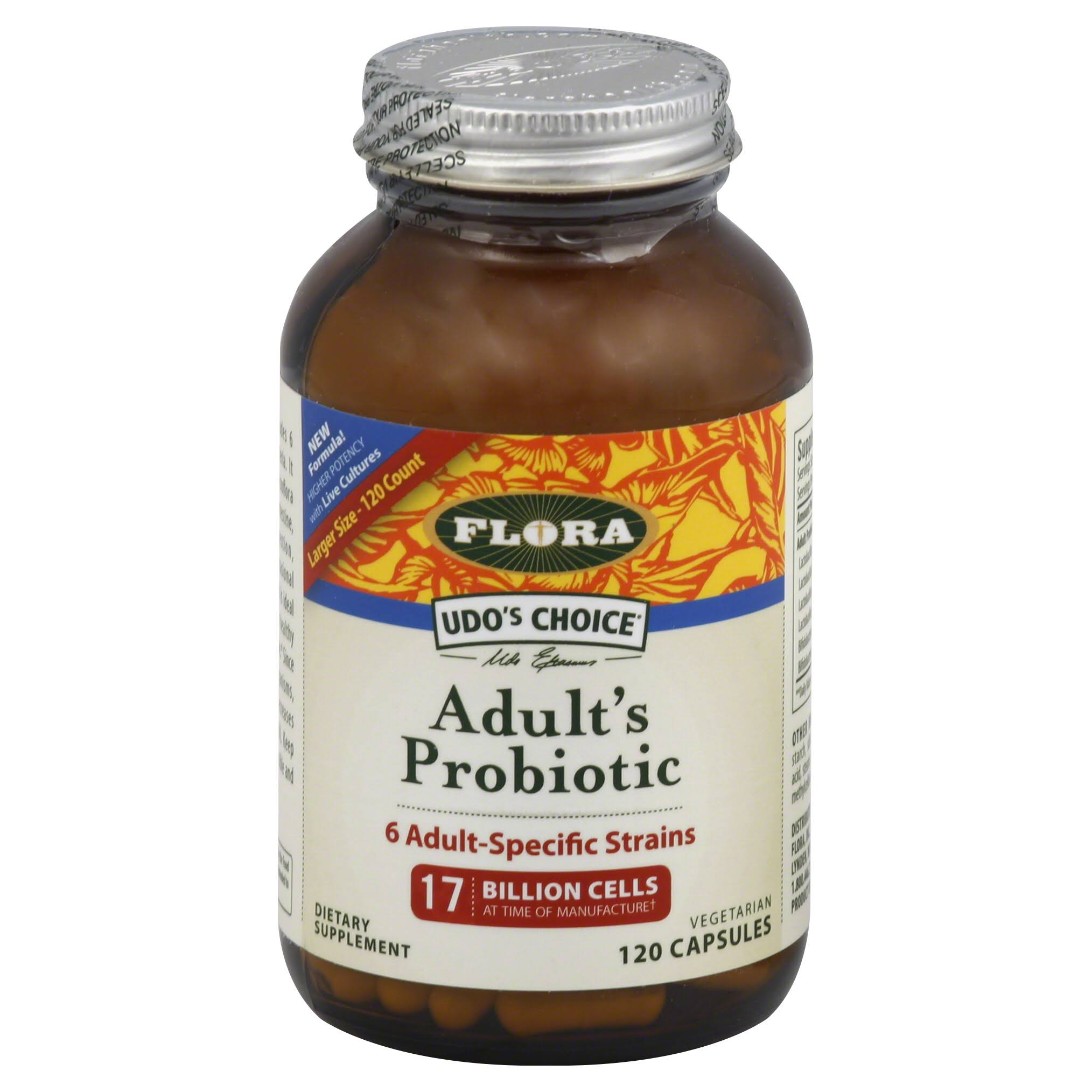 Flora Udo's Choice Adult's Probiotic Dietary Supplement - 120 Capsules