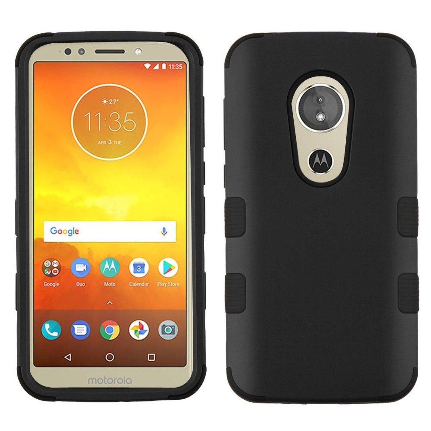 for Motorola Moto E5 Cruise/E5 Play Rubberized Black Tuff Hybrid Case