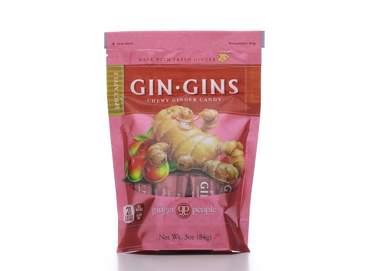 The Ginger People Gin Gins Spicy Apple Chewy Ginger Candy - 3oz