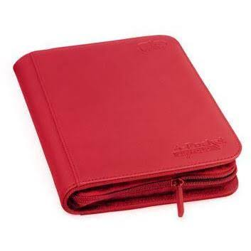 Ultimate Guard Zipfolio - XenoSkin Red, 4 Pocket