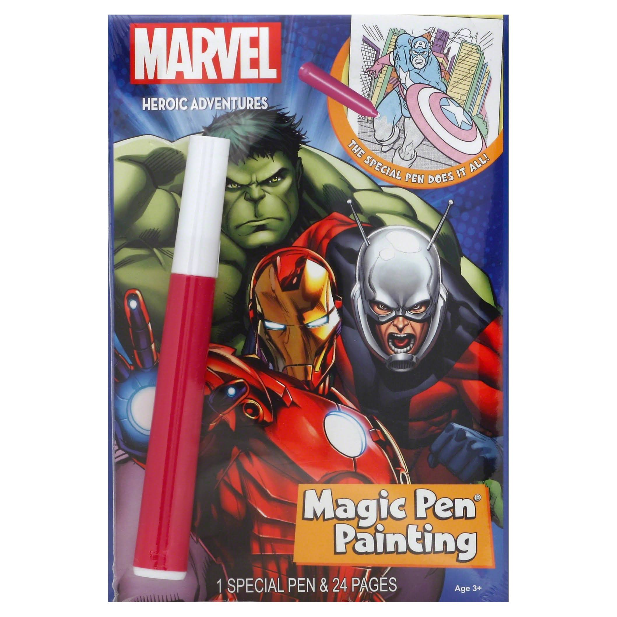 Marvel Super Heroes Heroic Adventures Invisible Ink Activity Book
