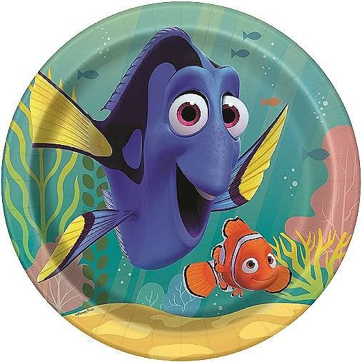 "Finding Dory Lunch Plates - 9"", 8ct"