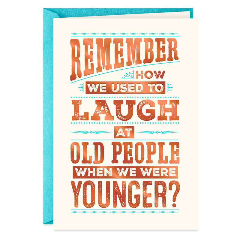 Who's Laughing Now Funny Birthday Card