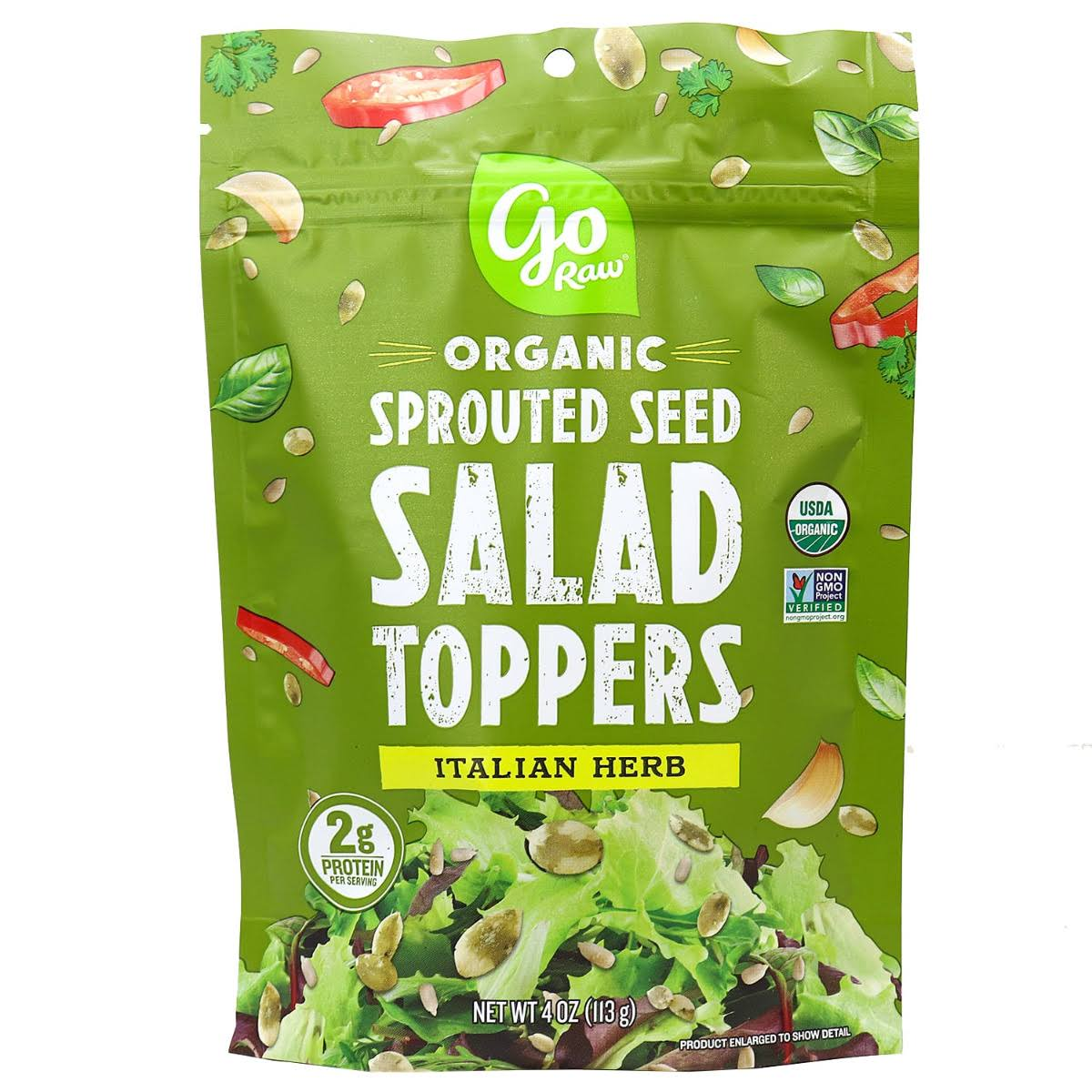 Go Raw Organic Sprouted Seed Salad Toppers Italian Herb 4 oz.