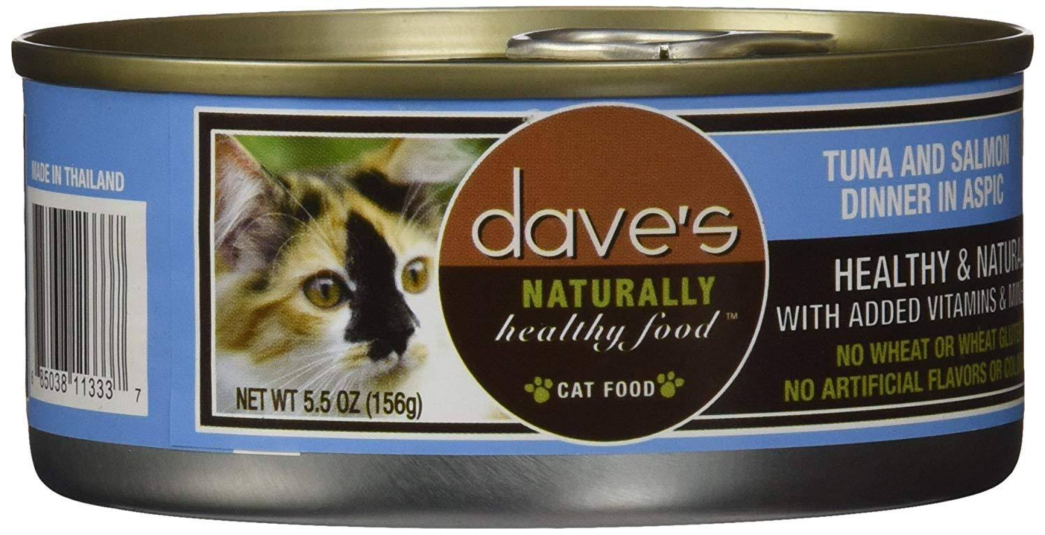 Dave's Grain Free Tuna Salmon Dinner In Aspic Cat Food - 5.5oz