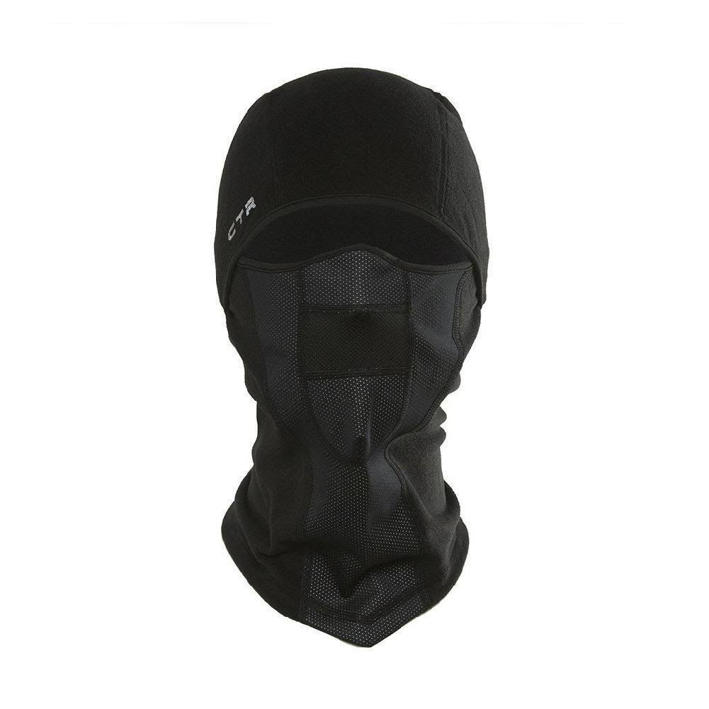 CTR Tempest Multi Tasker Pro Micro Fleece Balaclava - With Windproof Face, Small/Medium
