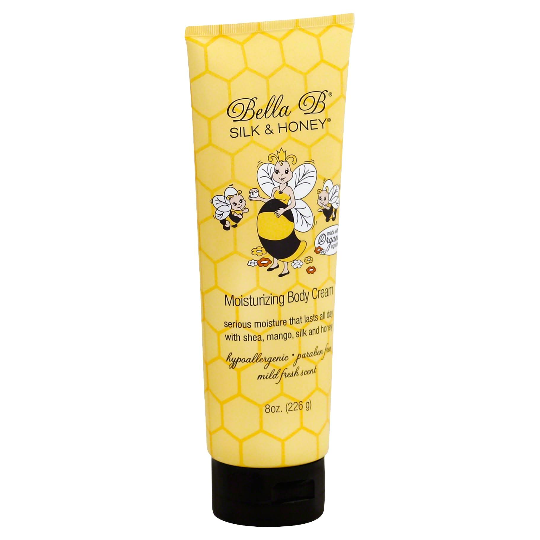 Bella B Silk & Honey Moisturizing Body Cream - 226g