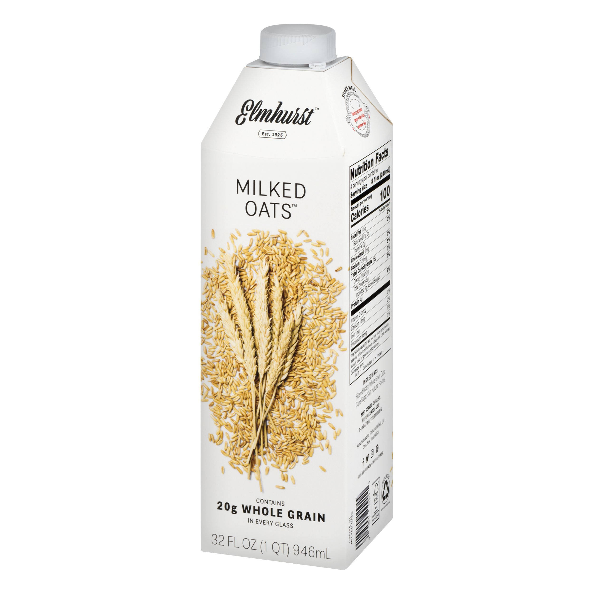 Elmhurst Milked Oats - 32oz, Creamy and Delicious Oat Milk