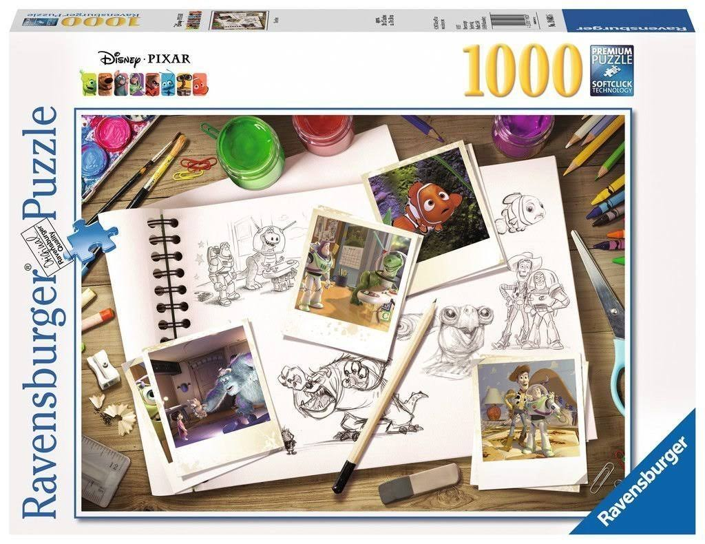 Disney Pixar Sketches Jigsaw Puzzle - 1000pcs
