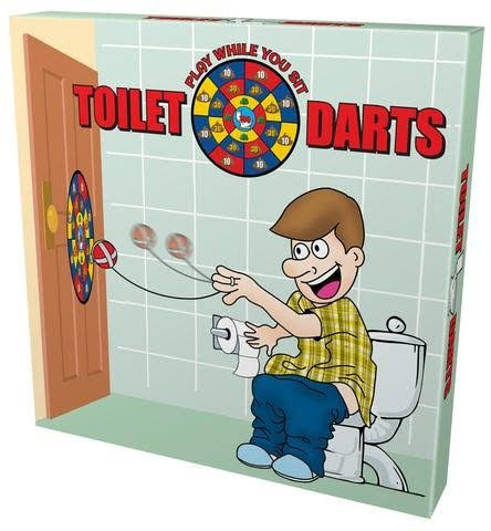 Island Dogs Toilet Darts Play While You Sit