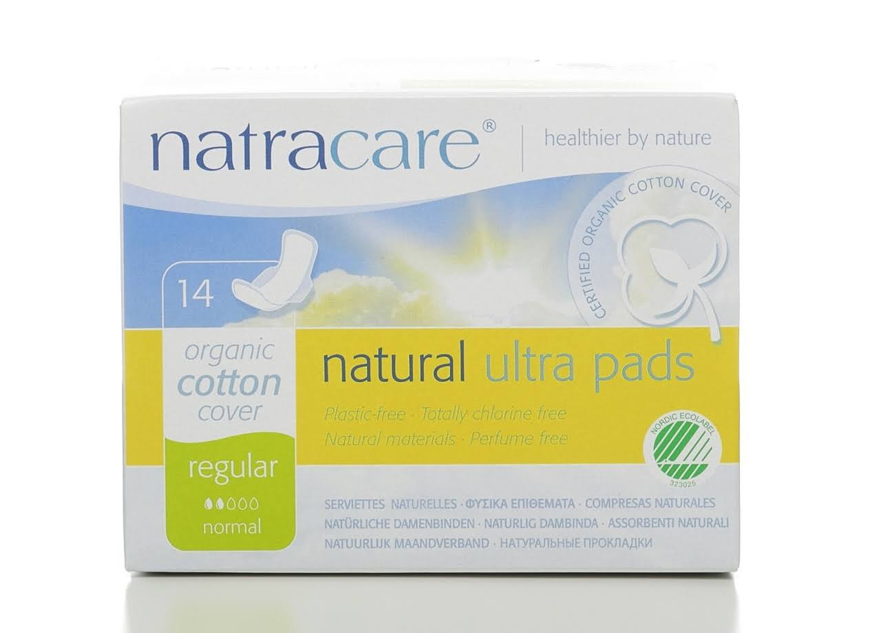 Natracare Organic Cotton Ultra Regular Pads with Wings 14