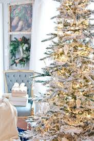 Vickerman Flocked Slim Christmas Tree by A Perfect Flocked Christmas Tree French Gold And White Decor Ideas