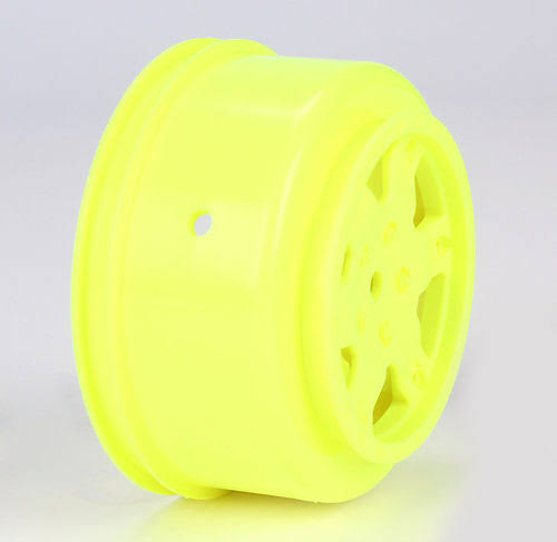 Team Losi TLR7004 Racing Wheel - Yellow, 2 Count