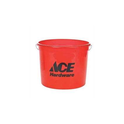 Ace Polysteel Rim Pail - 5 Quart, Red