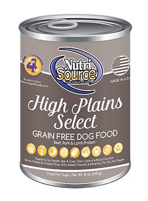 NutriSource High Plains Select Grain Free Dog Food 13 oz