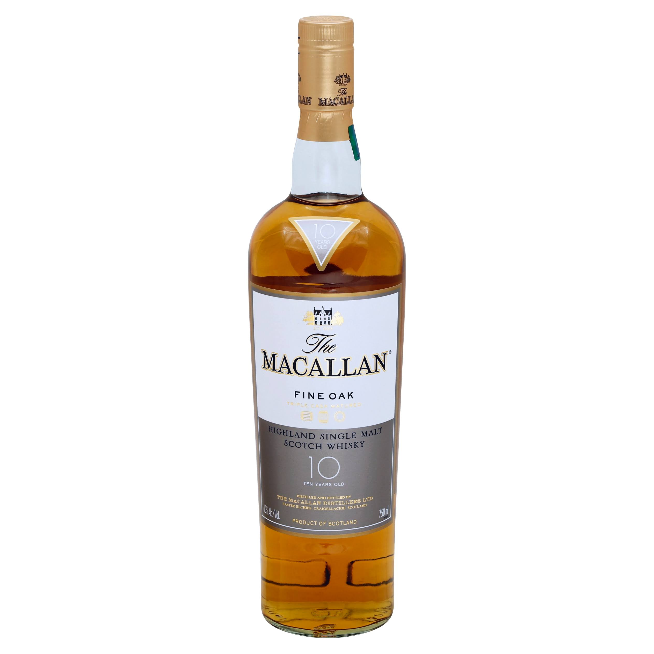 Macallan Fine Oak 10 Year Old Single Malt Scotch Whisky - 750 ml bottle
