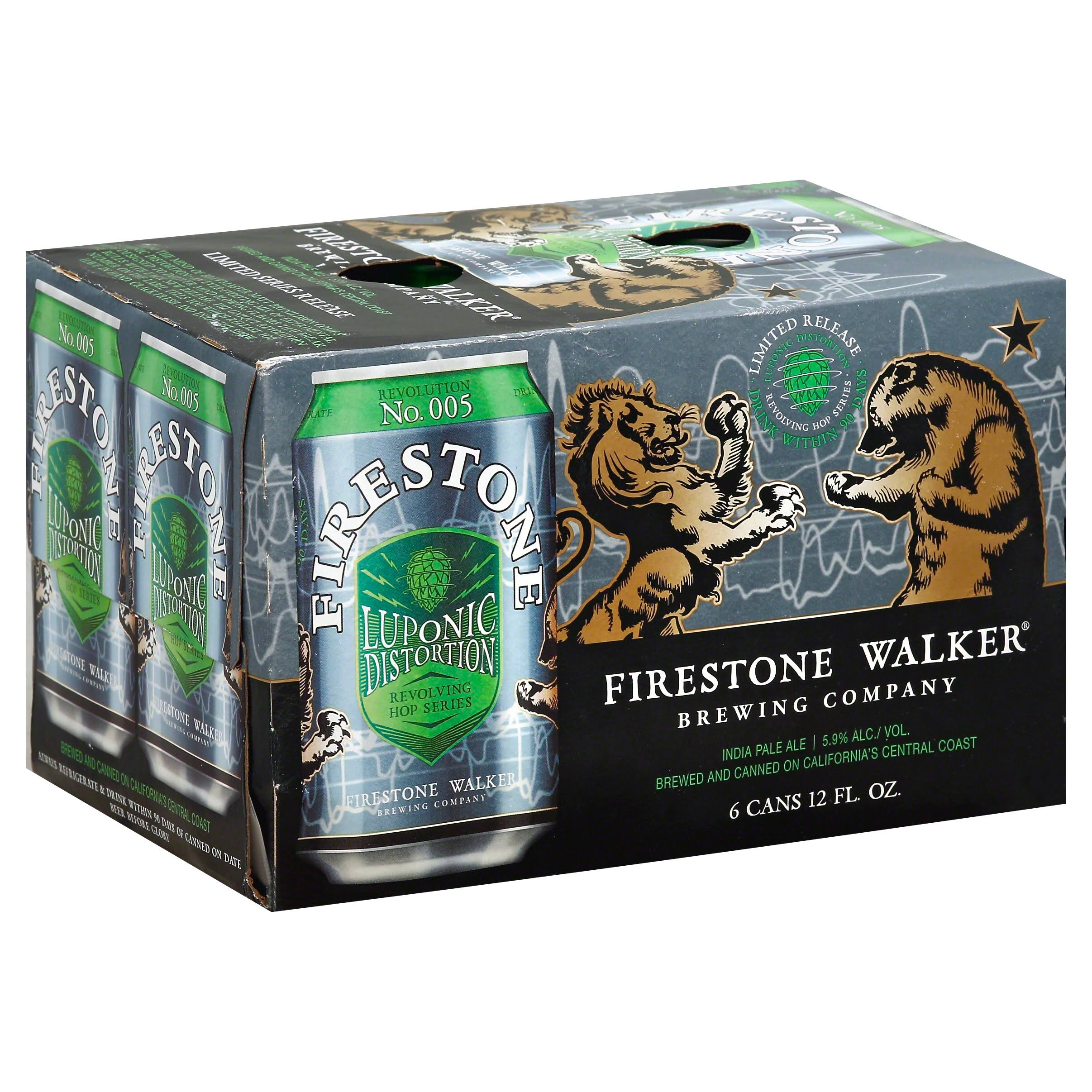 Firestone Walker Revolving Hop Series Beer, India Pale Ale, Luponic Distortion - 6 pack, 12 fl oz cans