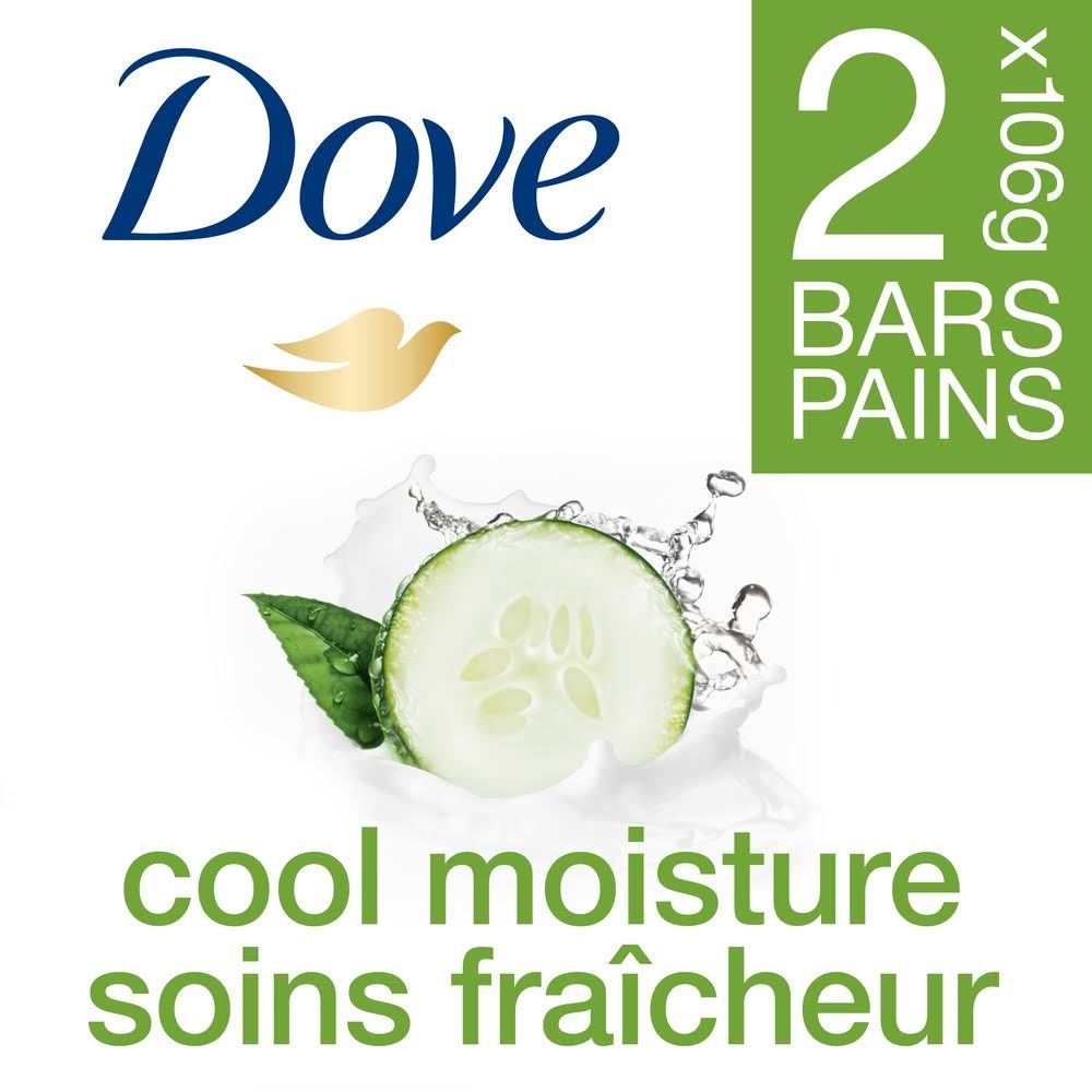 Dove Go Fresh Cool Moisture Beauty Bar - 4oz, 2ct, Cucumber and Green Tea Scent