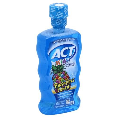 Act Anticavity Flouride Rinse, Pineapple Punch, Kids - 16.9 fl oz