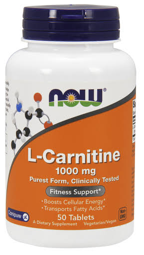 Now Foods L-Carnitine Fitness Support - 50 Tablets, 1000mg