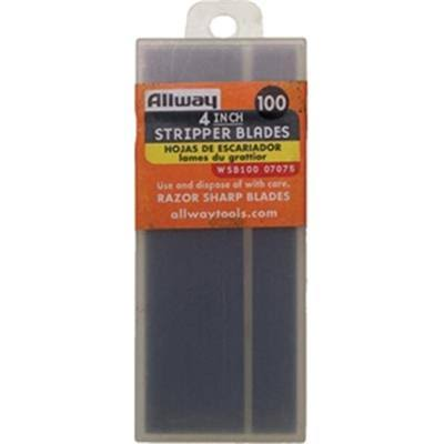Allway Tools 4 in. Scraper Replacement Blade - 100 Pack