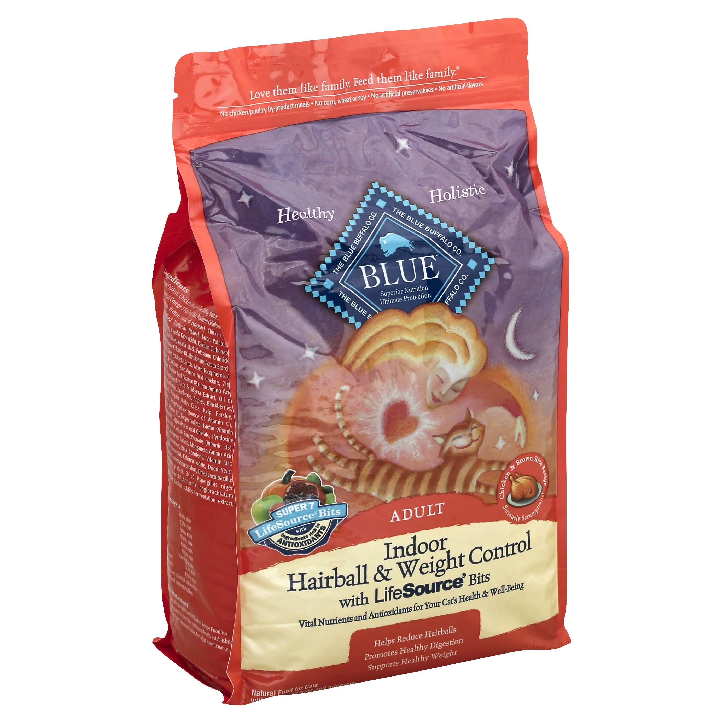 Blue Buffalo Adult Cat Indoor Hairball & Weight Control - 7lb