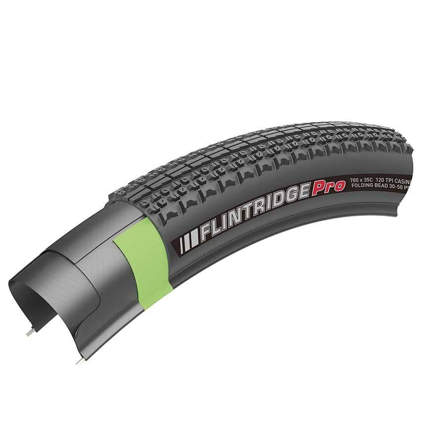 Kenda Flintridge Pro Tire - 700 x 35 Tubeless Folding Black