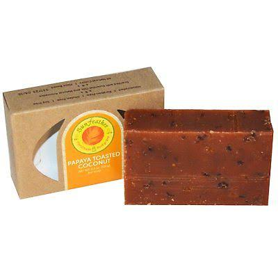 Sunfeather Papaya & Toasted Coconut Soap - 4.3 oz - Bar Soap
