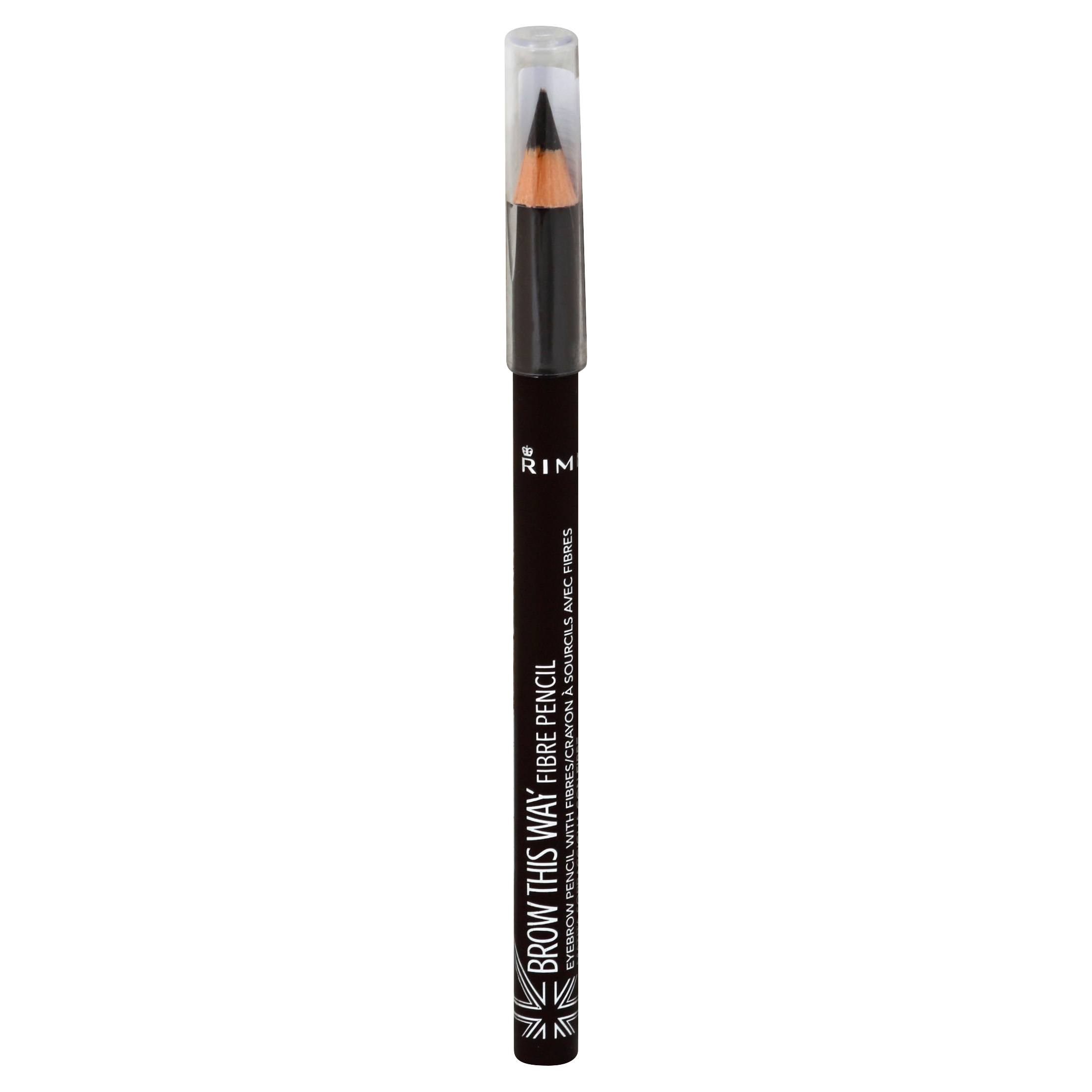 Rimmel London Brow This Way Fibre Pencil - 003 Dark, 1.08g