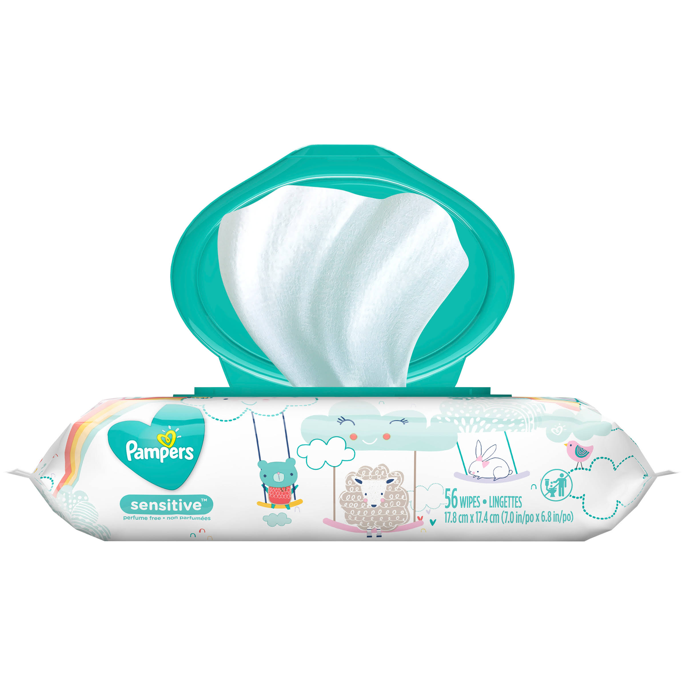 Pampers Sensitive Wipes - 56 Pack