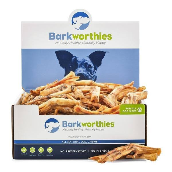 Barkworthies Duck Feet Natural Dog Chews - 100ct