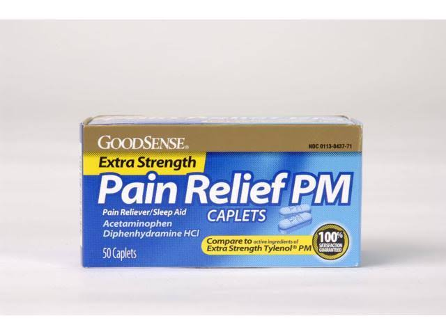 GoodSense R 966550 Extra Strength Pain Relief PM Caplets
