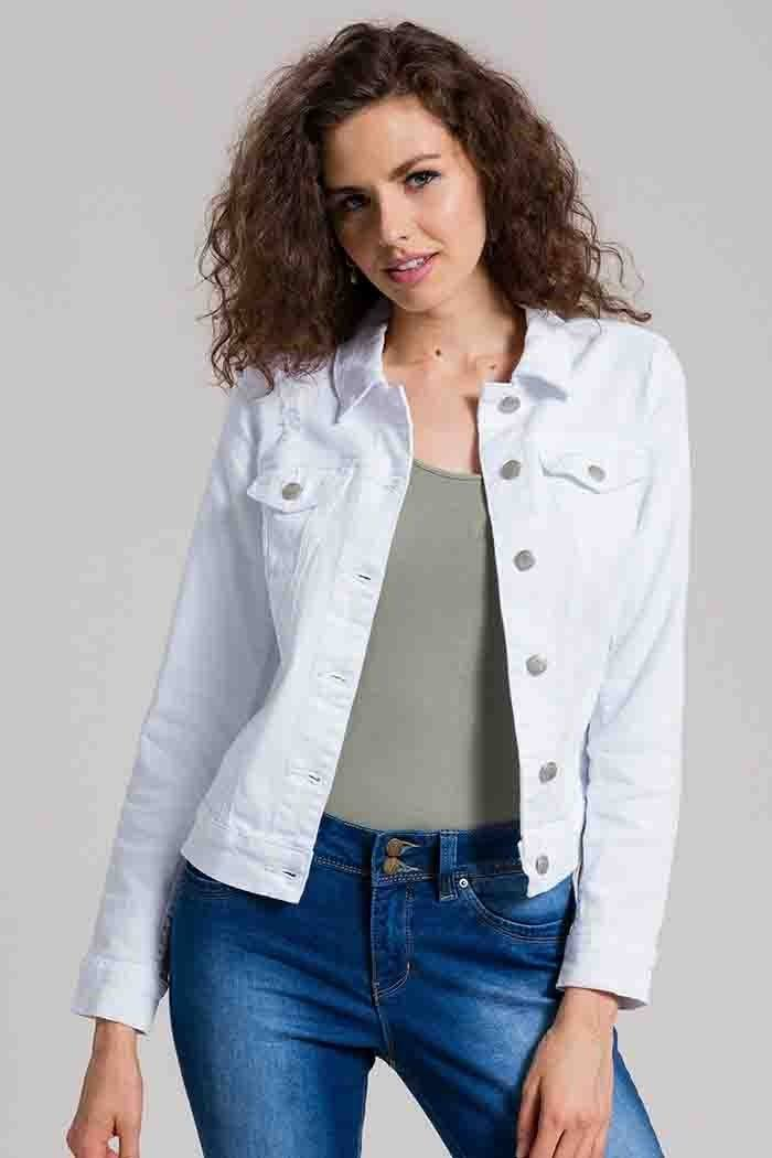 Royalty by YMI Womens Denim Jacket in White | Shopko