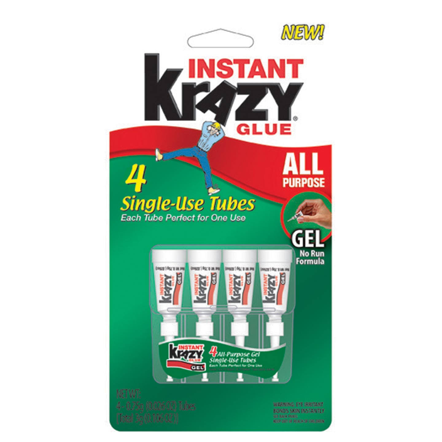 Krazy Glue All Purpose Single Use Tubes - 4 ct, 0.75g