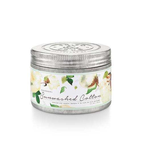 Tried and True Sunwashed Cotton Small Tin Candle