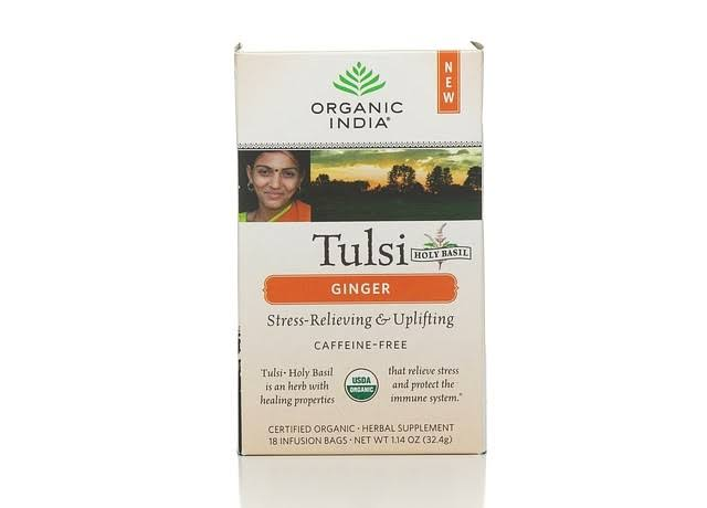 Organic India Tulsi Lemon Ginger Tea