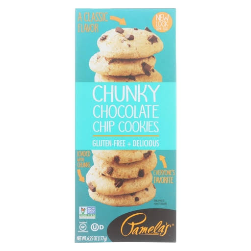 Pamelas Cookies, Chocolate Chip, Chunky - 6.25 oz