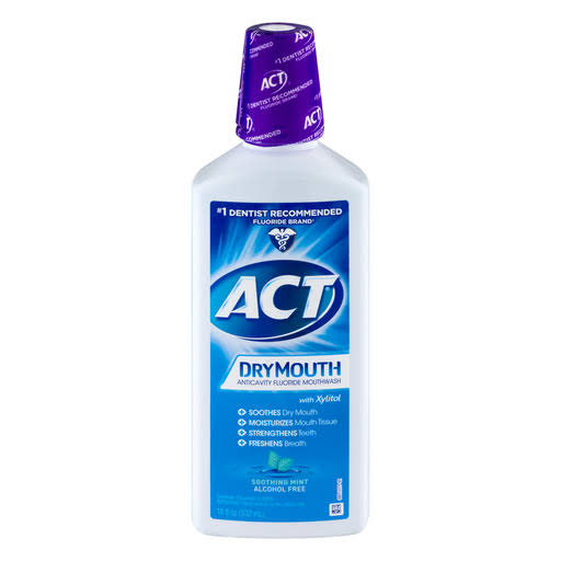 ACT Dry Mouth Anticavity Fluoride Mouthwash - Soothing Mint, 18oz