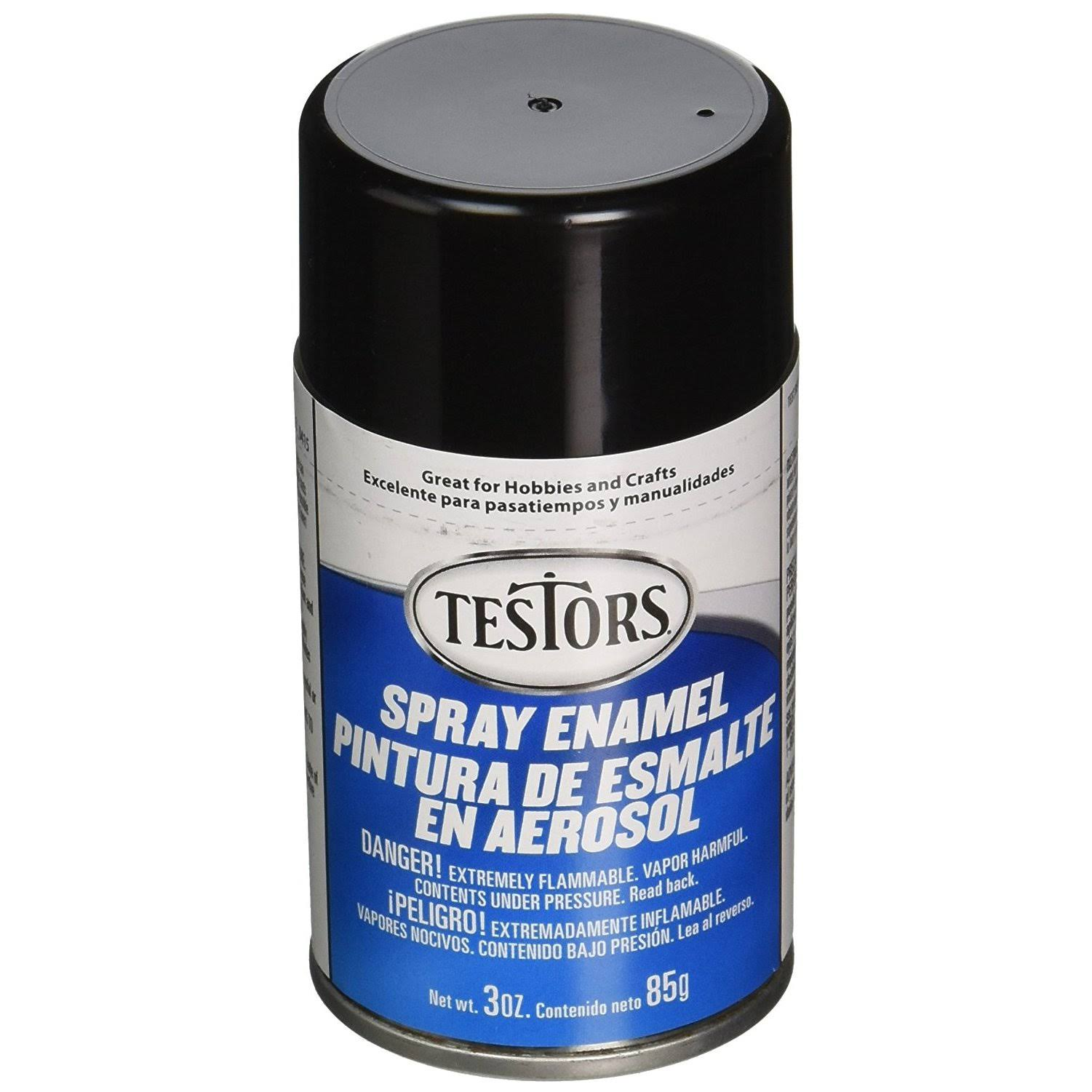 Testors Spray Enamel Paint - 3 oz, Gloss Black