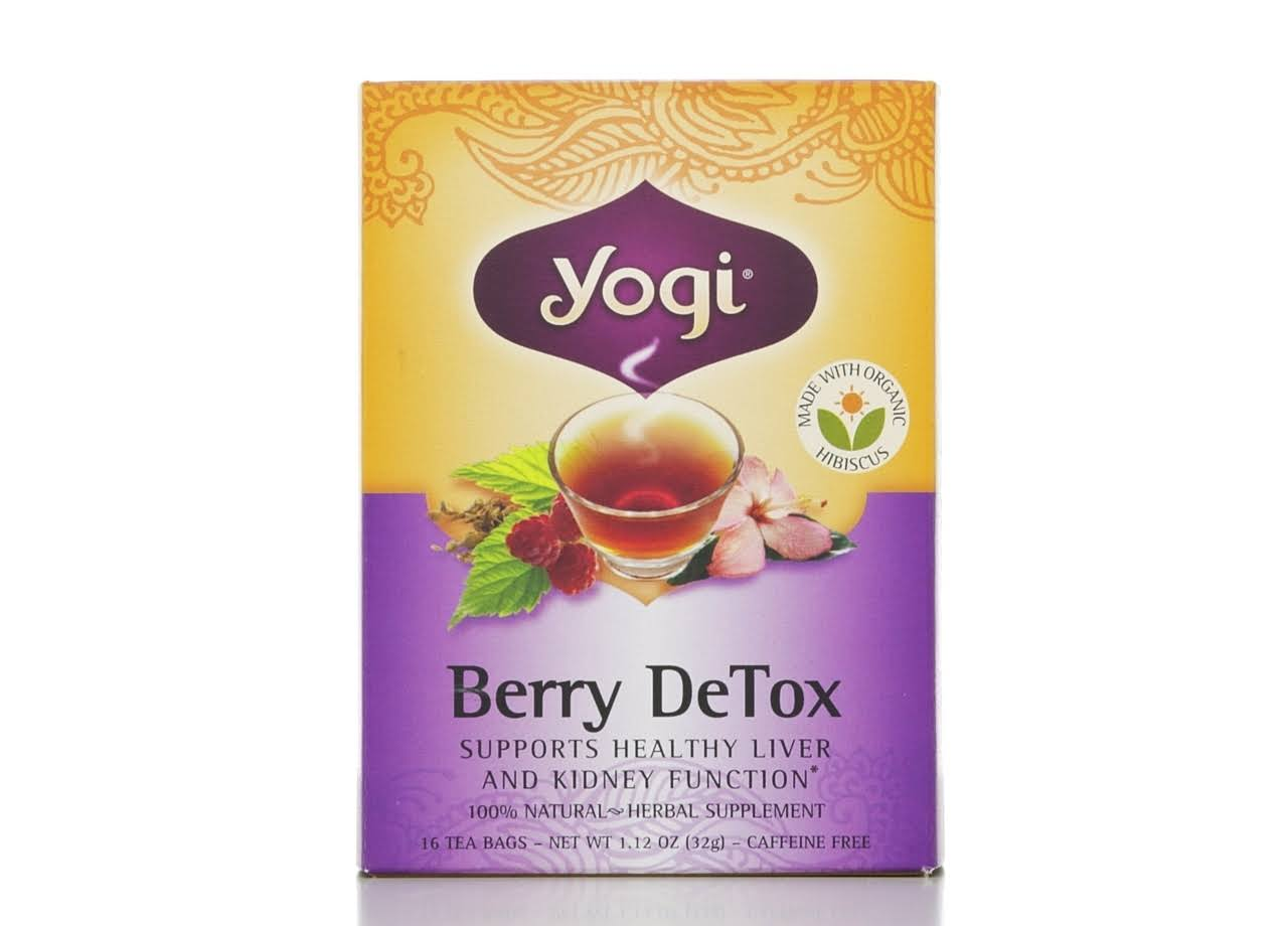 Yogi Berry DeTox Caffeine Free Herbal Supplement - 16 Tea Bags