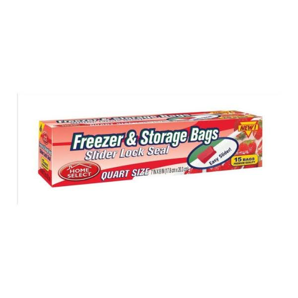 Home Select Freezer & Storage Bags - 15ct