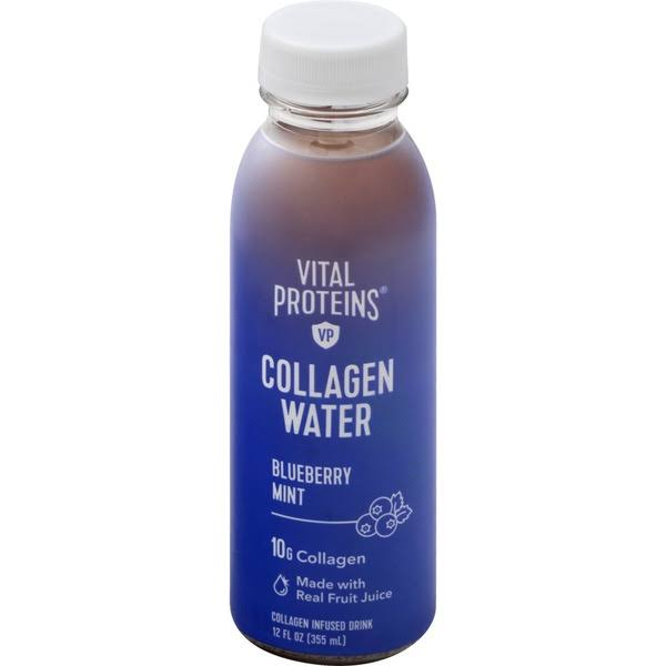Vital Proteins Collagen Water Collagen Infused Drink, Blueberry Mint - 12 fl oz