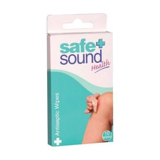 Safe and Sound Antiseptic Wipes - 10 Wipes